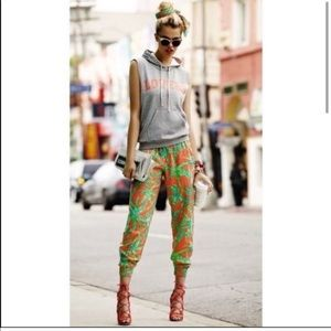 Lovers + Friends Tropical Palm Leaves Jogger Pants